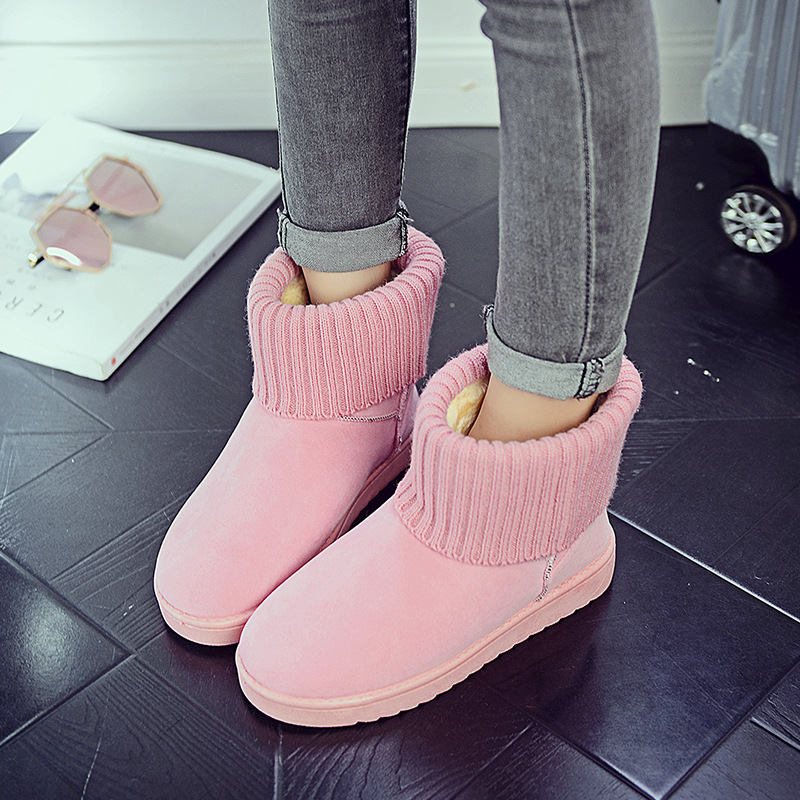 Women's new snow boots winter fashion wild classic women's shoes simple warm non-slip waterproof wool shoes ladies ankle boots 77