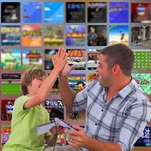 Image 2 - فيديو الألعاب الطفولة وحدة تحكم تتريس 8Bit الكلاسيكية الرجعية NES TV لعبة AV ميناء المدمج في 620 ألعاب المزدوج مقبض اللعبة هدية