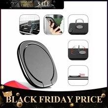 Metal Mobile Phone Socket Holder Universal 360 Degree Rotation Finger Ring Holder Magnetic Car Bracket Stand Accessories