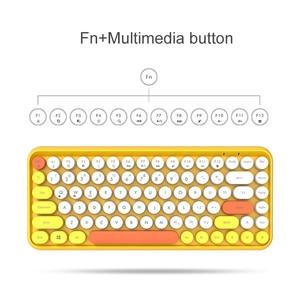 Image 4 - Wireless Bluetooth Keyboard Mini Round Button Gaming Keyboard For Macbook PC Gamer Laptop iPad Tablet Computer Andorid Keyboard