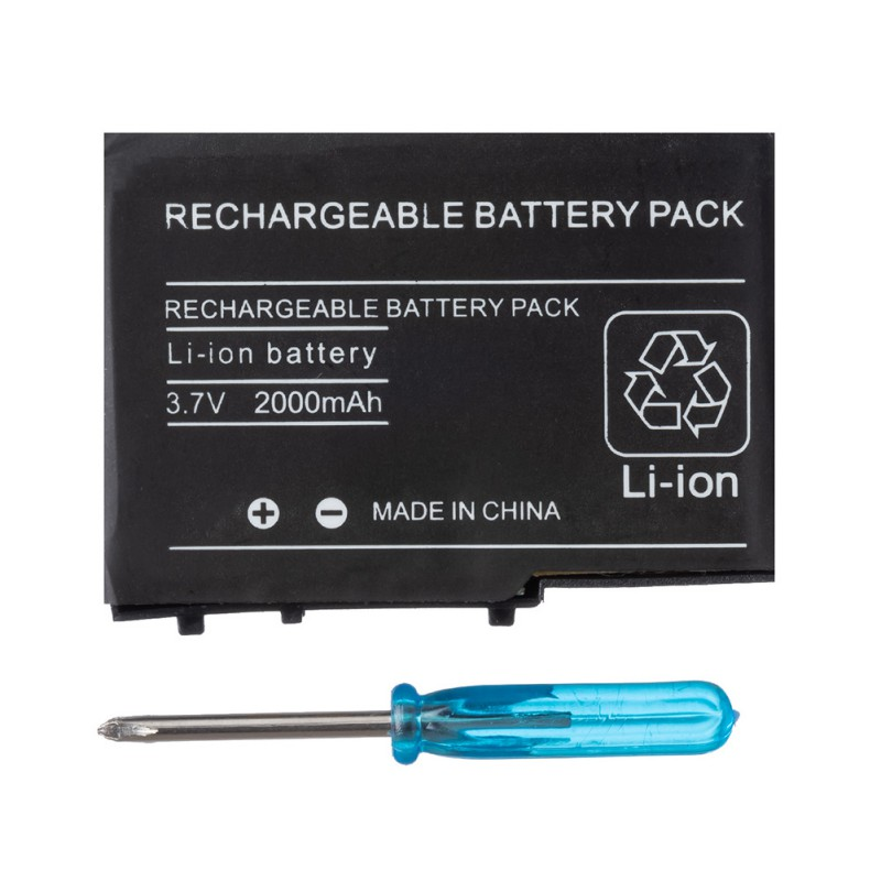 3.7V Rechargeable Lithium-ion Battery Replacement Tool Pack With Mini Screwdriver For Nintendo DS Lite NDSL Game New
