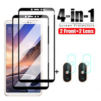 Vetro protettivo 4 in 1 per Xiaomi Mi Max 2 3 Mix 3 2 2S vetro temperato per Xiaomi Mi A3 A2 Lite A1 pellicola protettiva per vetri
