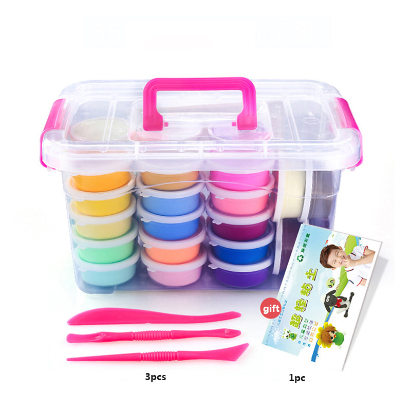 36colors Kids Polymer Clay Super Light DIY Modelling Clay Slime Soft Intelligent Plasticine Learning Education Toy For Children