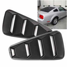 1Pair 1/4 Quarter Side Window Louvers Scoop Cover Vent For Ford/Mustang 2005 2006 2007 2008 2009 2010 2011 2012 2013 2014