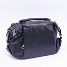 100% Genuine Leather Female Shoulder Bag Lady Small Boston Fashion Handbag Women Casual Cow Leather Crossbody Bags Bolsos Mujer