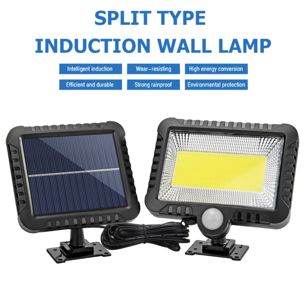 COB Wall Mounted Solar Outdoor Light with 120LED and Motion Sensor Suitable for Street and Garden 10