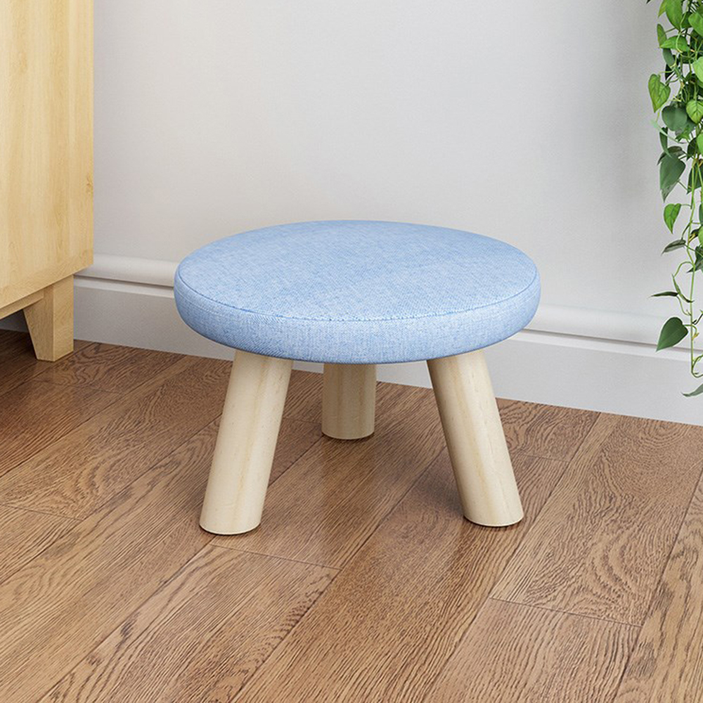 Footstool Simple Portable Stool Removable Beanbag Foot Stool Coffee Table Small Stool Bench Multicolor Color : Blue