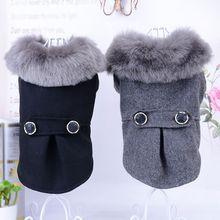 warm Dog Clothes Pet Woolen Coat cute dog coat jacket autumn winter 2color S M L XL Size choose High Quality