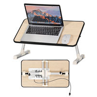 Costway Portable Lap Desk Folding Laptop Computer Table Adjustable Bed Tray Stand w/ Fan