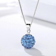 цена на Genuine S925 sterling silver Full diamond pendant Rhinestones fashion zircon pendant female gift S925 sterling silver jewelry