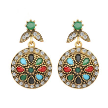 Sales Fashion Wedding Drop Colorful Bohemian Earrings Womens Vintage Accessories Indian Jewelry  Leather