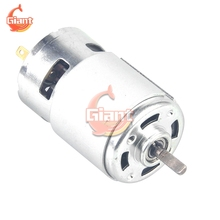 5PCS 775 DC Motor DC 12V 24V Large Torque High Power Tool Ball Bearing 12000RPM Low Noise lectronic Component Motor