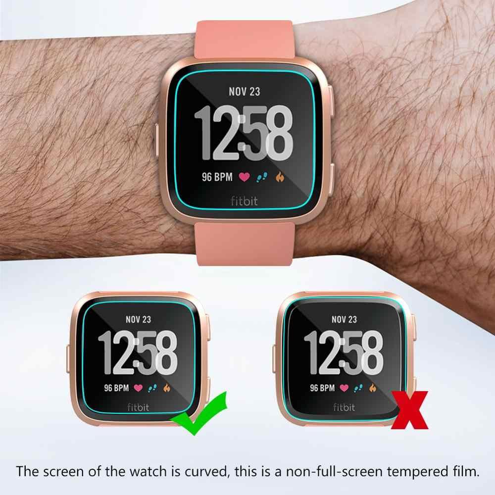 Protector suave para fitbit versa, correa de reloj inteligente, accesorios de correa de hidrogel 3D de cristal no templado, 1/3/5 Uds.