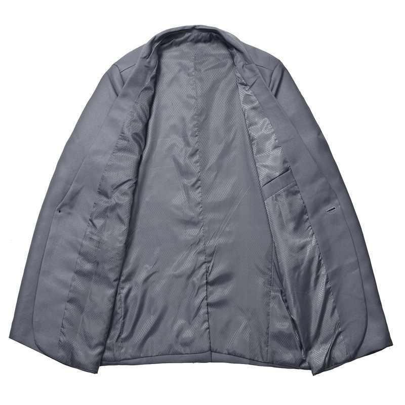 を 2020 男性スリムフィット社会ブレザー春秋のファッション固体メンズウェディングドレスコートカジュアルサイズビジネス男性スーツジャケット