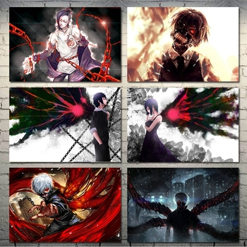 Modern Fashion Poster Canvas Print Tokyo Ghoul Japanese Anime Wall Art Painting Picture Modern Living Room Home Decoration image