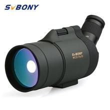 SVBONY 25 75x70 Spotting Scope SV41 Monoculaire Telescoop Breking Zoom Hunting Optics BAK4 Prisma Lange Bereik Waterdichte w/Statief voor jagen, schieten, boogschieten, vogels kijken
