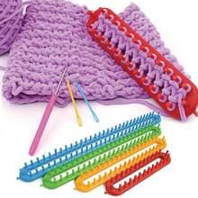 4 tamanho de tecelagem tear tricô knitter kit plástico pompom meia chapéu cachecol fabricante plástico alça longa diy ferramenta tecelagem
