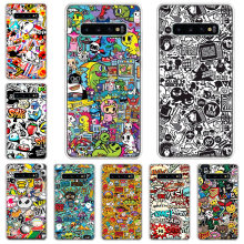 Anime graffiti adesivo legal caixa do telefone para samsung galaxy note 10 9 8 plus j4 j6 j8 plus s7 s8 s9 s10 s10e s20 ultra mais lite c(China)