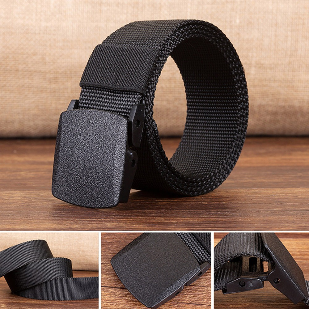 Man Women Automatic Nylon Belt Buckle Military Fans Tactical Canvas Ceinture Femme Cinturon Mujer Pasek Damski Belts Riem ремень