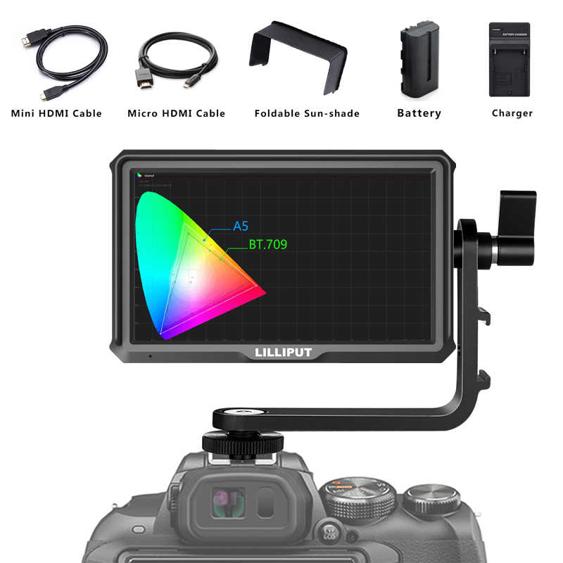 "Lilliput A5 5 ""IPS HDMI 4K Cámara voor DSLR de Mirrorless Cámara cámara-top Veld Monitor de Video"