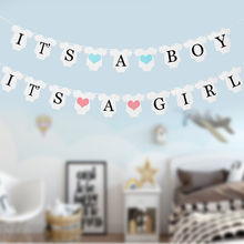 Baby Shower Paper Garland It`s A Boy Party Pennant Flags Banner Girl Babyshower Baptism Decoration