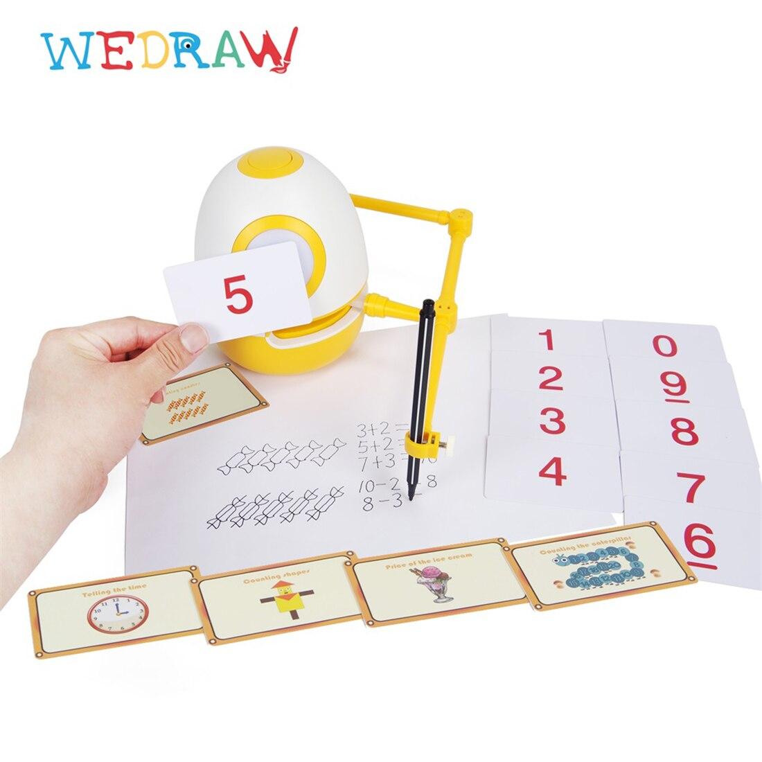 Wedraw eggy crianças desenho robô gênio kit