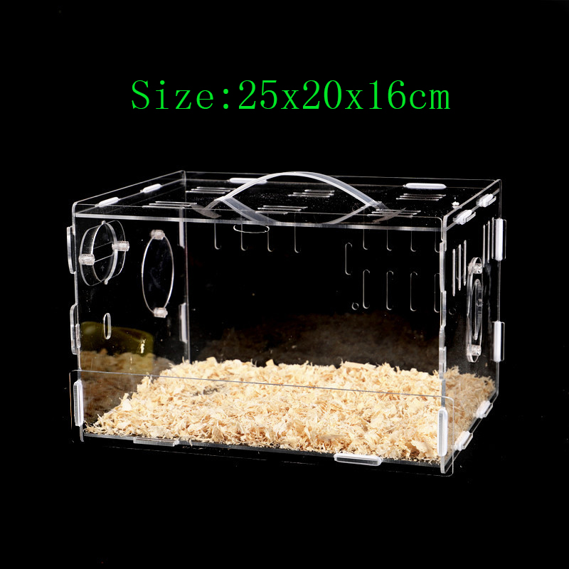 Transparent Hamster Nest Acrylic Guinea Pig Cage Single-Deck Villa Hamster Baby Supplies