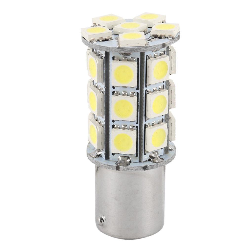 10 Pcs White 1156 27-SMD RV Camper Trailer LED Interior Light Bulbs 1141 12V Set