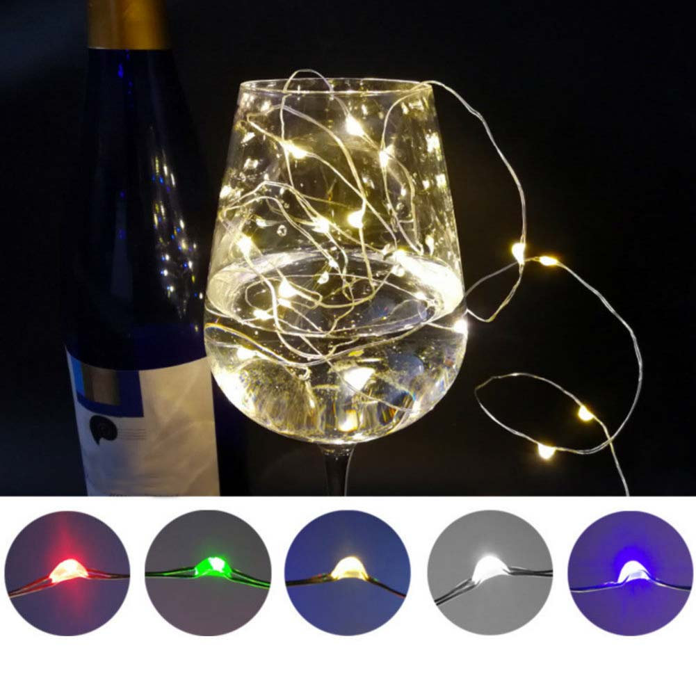 20 LEDs Decoration Lights String Waterproof Flashing Lights Wedding Party Decoration CLH@8