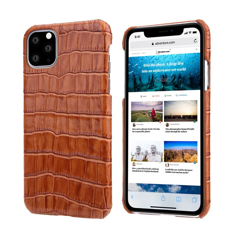 Luxury Genuine Cow Leather Case For iPhone 12 Pro Max 1 2