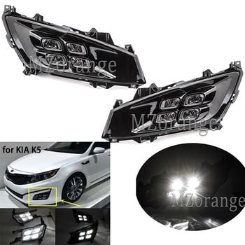 цена на 2pcs LED Daytime Running Light For Kia Optima K5 2010-2014 Car Accessories Waterproof ABS 12V DRL Fog Lamp Day Light