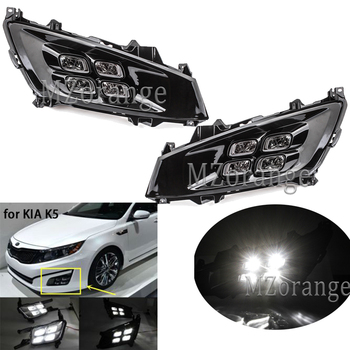 LED Daytime Running Light For Kia Optima K5 2010-2014 Car Accessories Waterproof ABS 12V DRL Fog Lamp Day Light newest 12v 6000k led drl daytime running light for mazda3 mazda 3 axela 2014 2015 2016 fog lamp frame fog light car styling