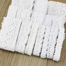 (5 metros/rolo) algodão branco bordado laço fitas de rede tecido guarnição decorar diy costura artesanal artesanato materiais fitas