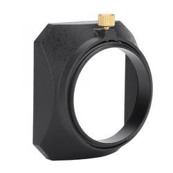 camera lens part 49mm Square Lens Hood Shade for DV Camcorder Digital Video Camera Lens Filter or Barrel Thread dslr len hood