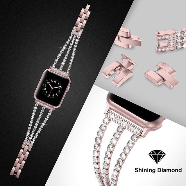 Фото новый женский браслет jansin для часов apple watch 38 мм 42 цена