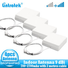Wholesale 4 PCS Indoor Antennas 9dbi 700-2700Mhz 2G 3G 4G Indoor Panel Antenna GSM CDMA WCDMA LTE UMTS Repeater Antenna 4G LTE 3g gsm cdma 2 4g 14dbi rp sma male antenna