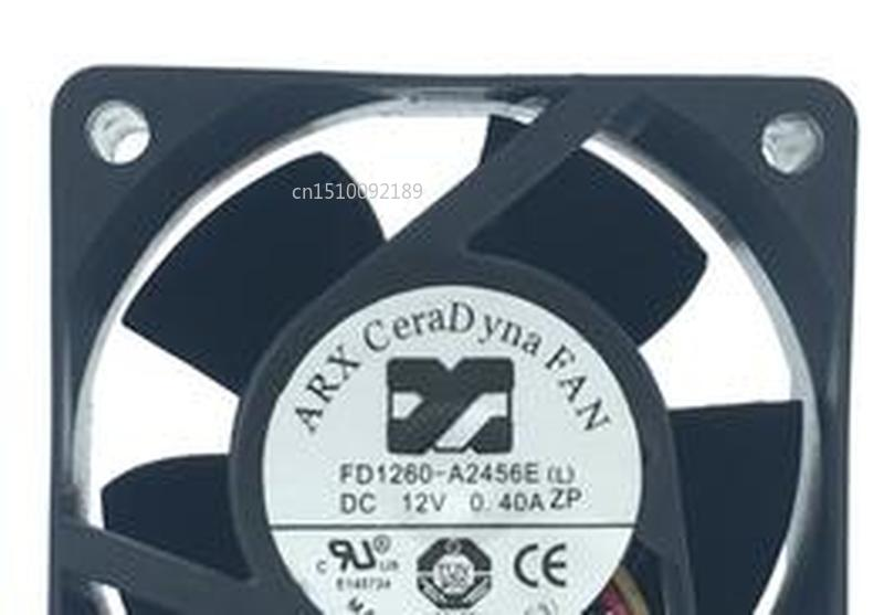 For ARX FD1260-A2456E(L) DC 12V 0.4A 60x60x25mm Server Cooler Fan Free Shipping