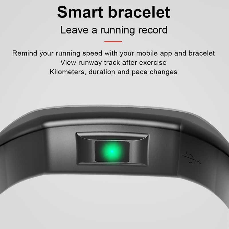 CK17S Smart Gelang Cicret Band Watch Heart Rate Monitor Smartband Pulsometer Kesehatan Olahraga Kebugaran Gelang Tracker untuk IOS