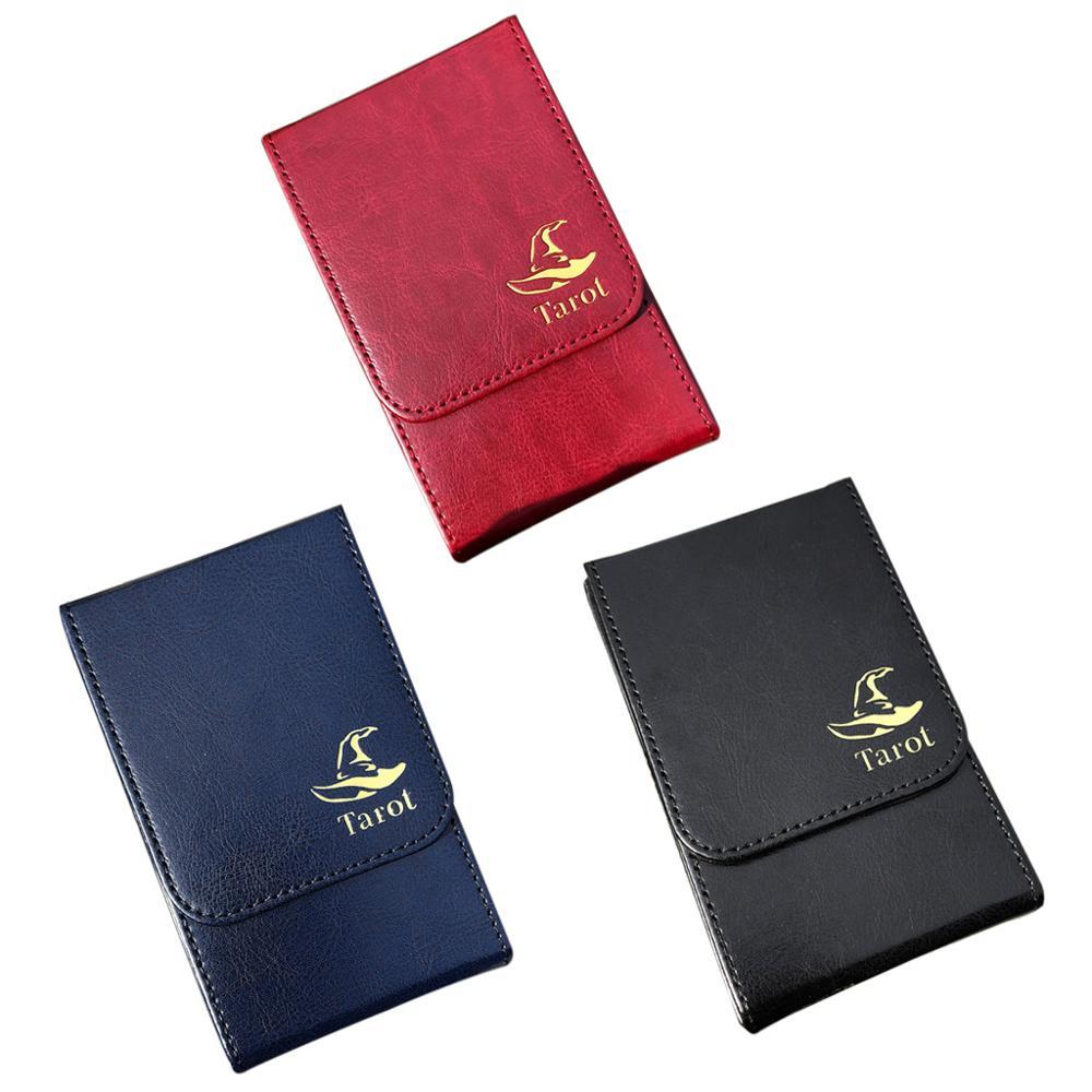 Портативный футляр для хранения карт, Двойная кожаная Коллекционная настольная игра, чехол для покера, футляр для карт