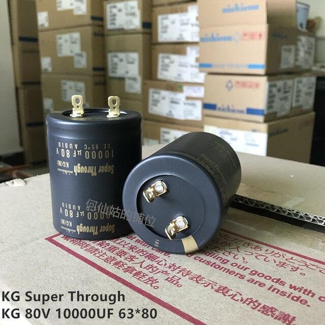 2pcs/lot Original Japanese Nichicon KG Super Through series fever capacitor audio aluminum electrolytic capacitor free shipping 1
