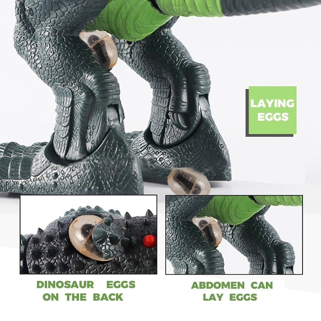 controle remoto dinossauro robo andando brinquedo com 04