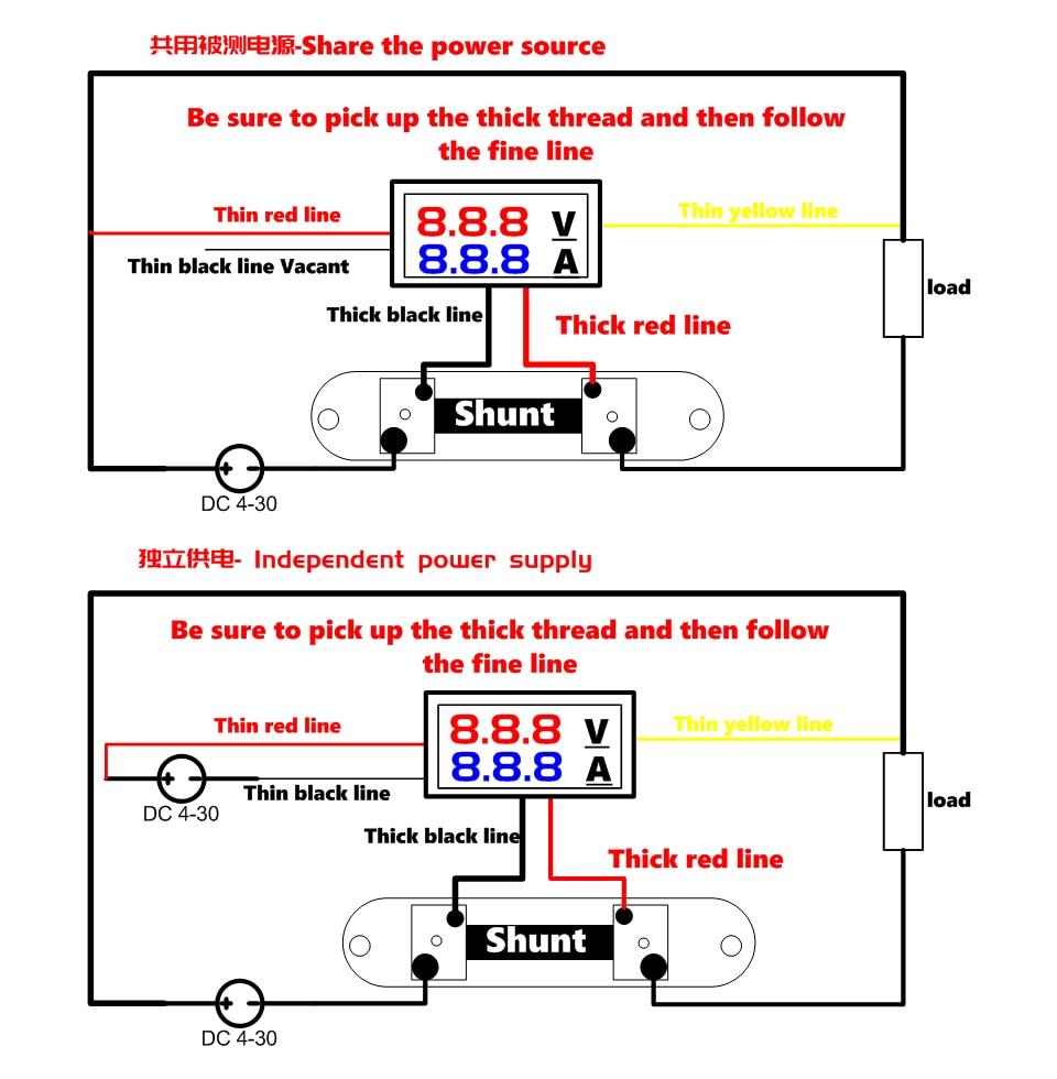H6f65b148bb2c4681ace9b0e91e930698p DC 0-100V 10A 50A 100A Electronic Digital Voltmeter Ammeter 0.56'' LED Display Voltage Regulator Volt AMP Current Meter Tester