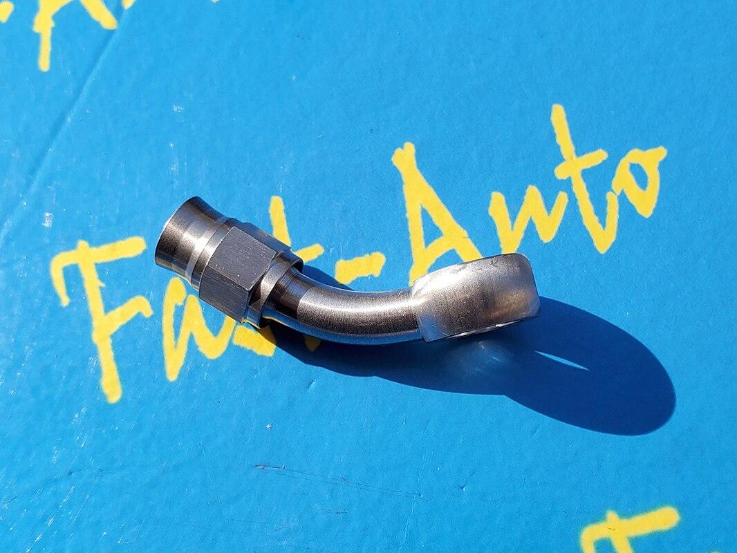 Adaptador de aço inoxidável reusável 10.2mm do banjo a 3/8-24unf an3 3an 45 graus de 45 graus ptfe tpfe extremidades do encaixe da mangueira de freio-2