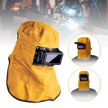 Casque de Protection pour le soudage du cuir, cagoule de Protection solaire, avec filtre et obscurcissement automatique,