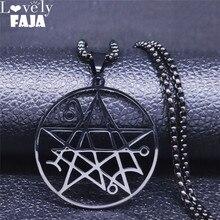 Collar Colgante Satanic LOVECRAFT CTHULHU NECRONOMICON patch satanic Anillo Pin Stainless Steel Necklace Jewelry N3038S03 the satanic verses