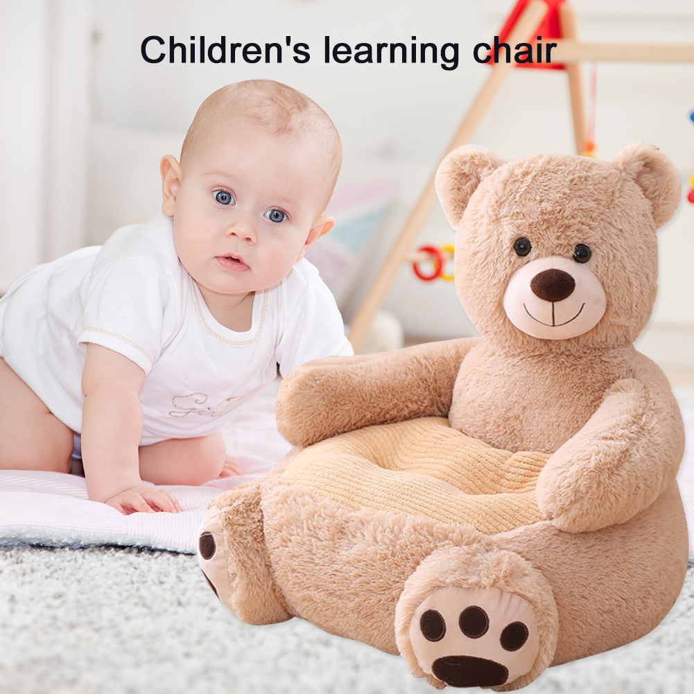 Cute Animals Baby Kids Sofa Learning To Sit Baby Sofa Cover Seat Support Children Chair Seat Puff Skin Toddler Without Filler