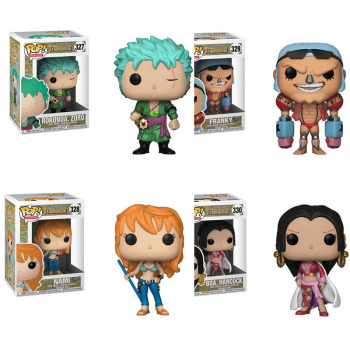 Funko Pop Japanese Anime:One Piece Character ZORO-NAMI--FRANKY-Boa Hancock Birthday Gift Action Figure Model Toys funko pop star wars figure toys darth vader luke skywalker leia action figure toys for friend birthday gift collection for model