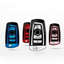 높은 품질 TPU 크롬 자동차 키 커버 키 가방 BMW X3 X4 X5 x6에 적합 1/3/5/7 시리즈 M3 키 쉘 프로텍터 자동 키 케이스 체인