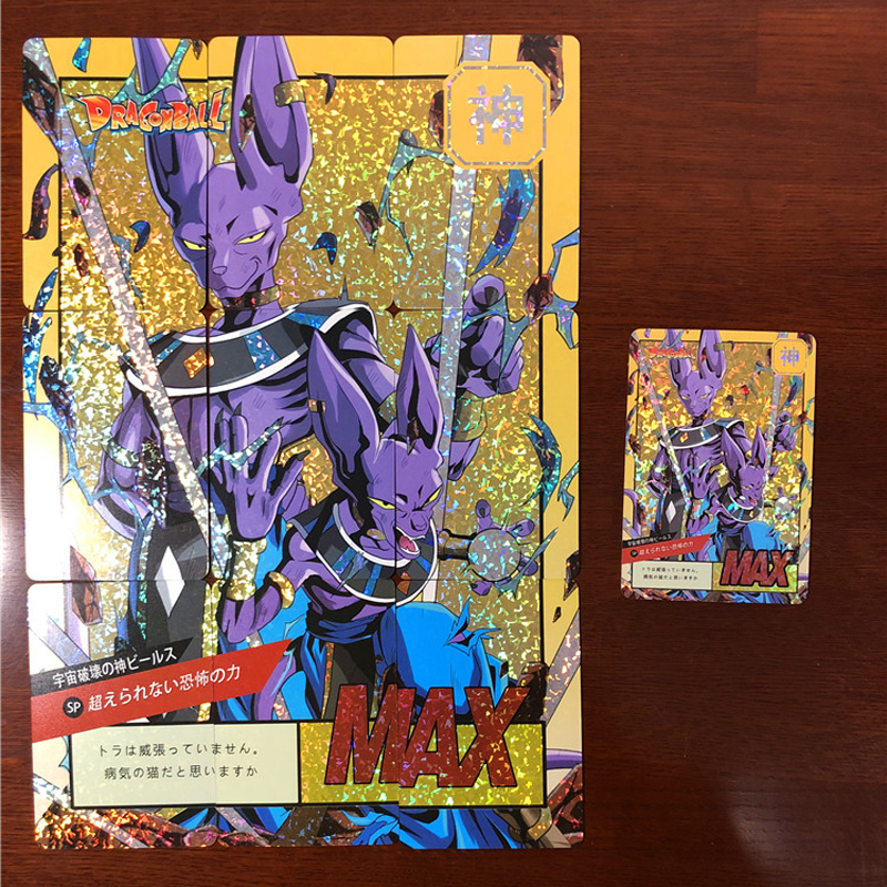 20Pcs Dragon Ball Super Flash Cards Son Goku Beerus Majin Buu Kakarotto 9 Fight Game Collection Cards