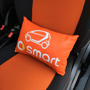 Car Styling Seat Lumbar Cushion Backrest Lumbar Pillow PU Leather For Smart 451 453 fortwo forfour Universal Accessories